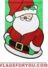 Jolly Santa Applique House Flag
