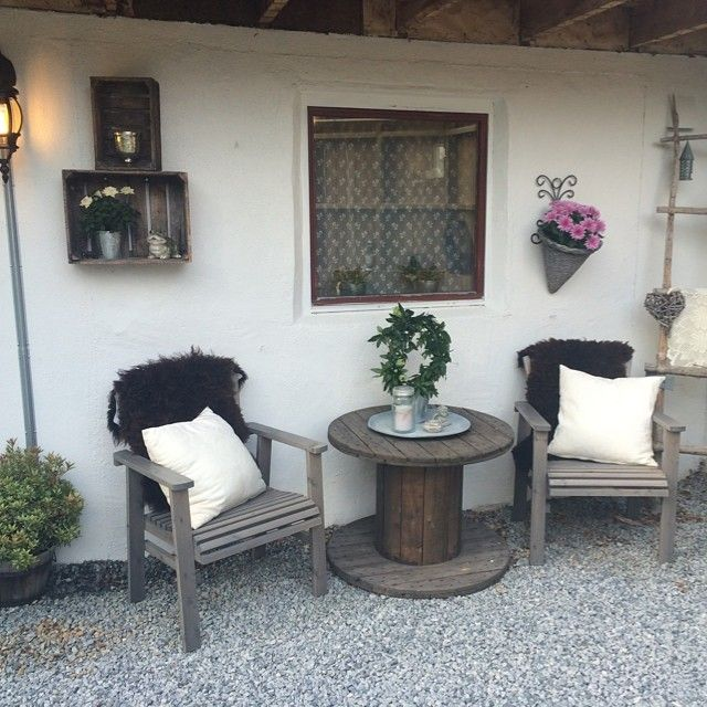 Hauseingang #Country #Style #Chic #Cozy #Cottage #Obstkisten #