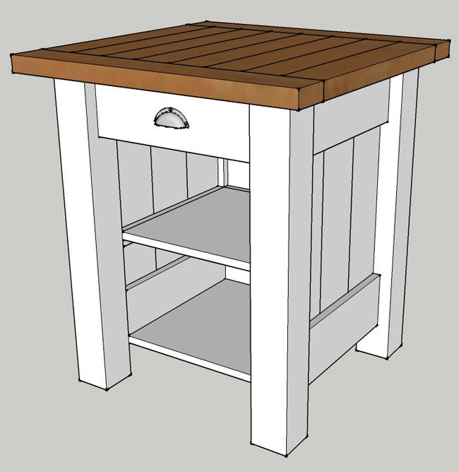 Wooden nightstand plans woodworking projects plans for Nightstand plans