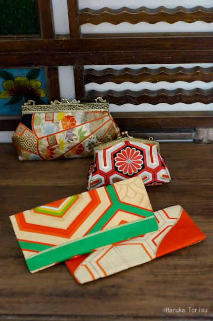 Just in store; Tomomi Yamamoto Kimono bags.