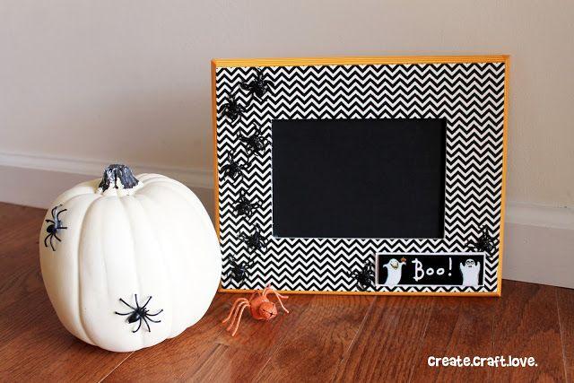 Washi Tape Halloween Frame DIY decor