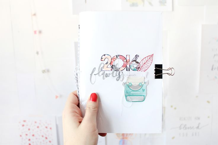 2016 journal DIY // Pinned from luciabarabas.com by Lucia Barabas
