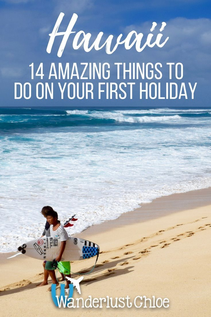 Hawaii: 14 Amazing Things To Do On Your First Holiday. From surfing on the North Shore to visiting Volcanoes National Park on the Big Island and enjoying Downtown Honolulu, there are so many amazing things to do on your first holiday in Hawaii. http://www.wanderlustchloe.com/hawaii-holiday-things-to-do/  Oahu | Big Island | Waterfall | Surf | Food | Volcano