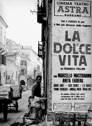 Poster for La Dolce Vita di Federico Fellini | Photo Giacobbi Giorgio Bassano