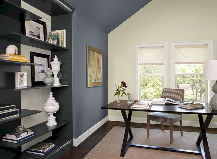 Delightful 20+ Elegant Workspace Color Schemes Idea For Your Cozy Private Space. Office  Color SchemesPaint Color SchemesCozy Home ...