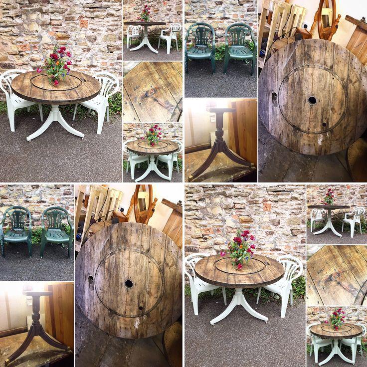 Old plastic garden furniture up-cycled Using Frenchic Al Fresco range wise old sage #AlFresco #hastobeFrenchic