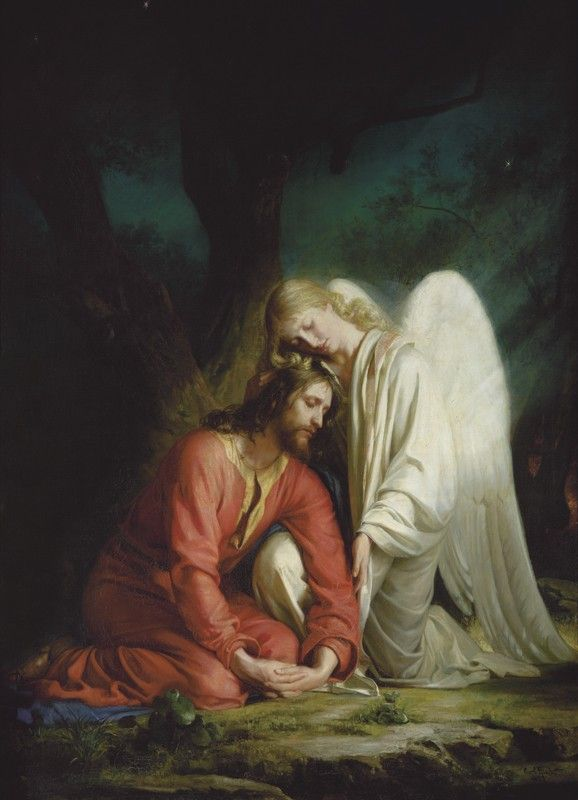 Christ in Gethsemane - Carl Heinrich Bloch - giclée reproduction #carlbloch