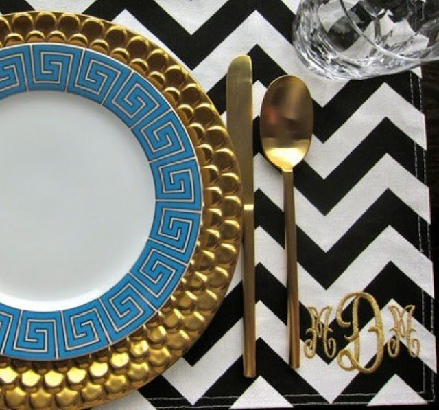 Charger and plate - idea for wall hanging maybe mirror