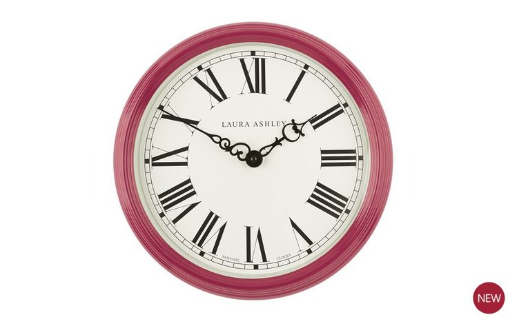 Cranberry Gallery Wall Clock at Laura Ashley