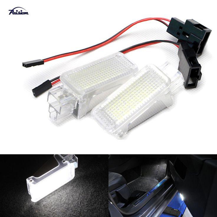 2pcs Error Free LED Courtesy Glove Box Under Door Foot Light for VW Touareg Tiguan Eos Passat SKODA SUPERB 2016 - 3V