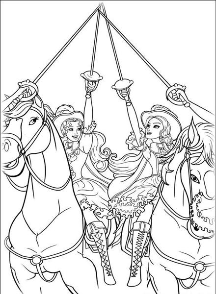 52 best Issyu0027s 7th birthday Barbie and 3 musketeers images on - best of boy barbie coloring pages