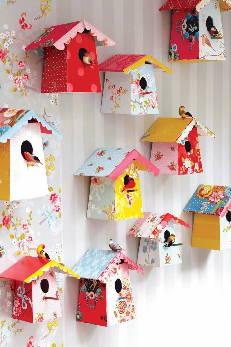 bird houses on a wall, if we have a wall. For looks only.