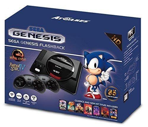 Console Retro Sega Mini Megadrive + 85 jeux – édition gold 2017-2018: Mini Megadrive incluant 85 jeux, dont la série Sonic, trois jeux…