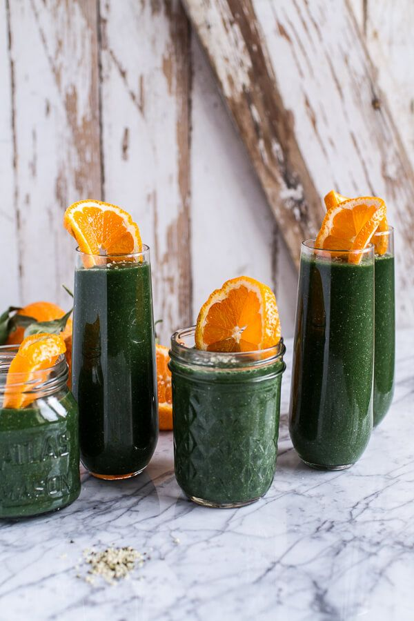 Holiday Detox: The Mean Green Smoothie - it may look mean and green, but it's extra fruity and citrusy taste defies its color - from halfbakedharvest.com