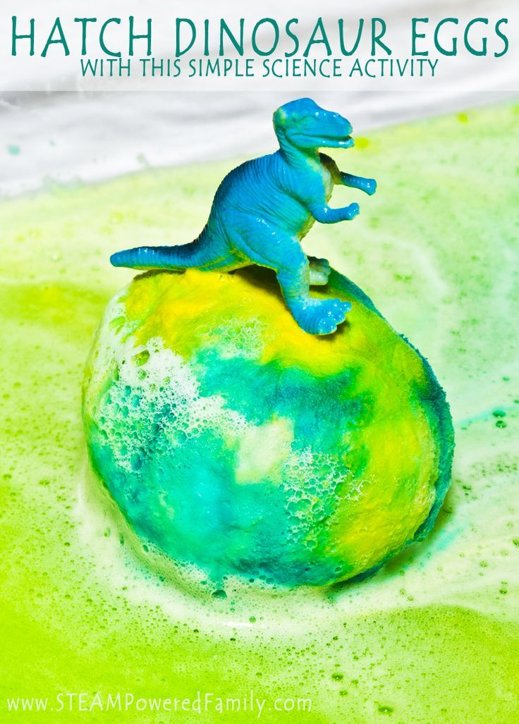Hatching Dinosaur Eggs With Science - an exciting way to introduce chemistry for all ages. The video includes extra surprises including a glitter bomb, changing colours and of course, the baby dino! Which dino will you find?