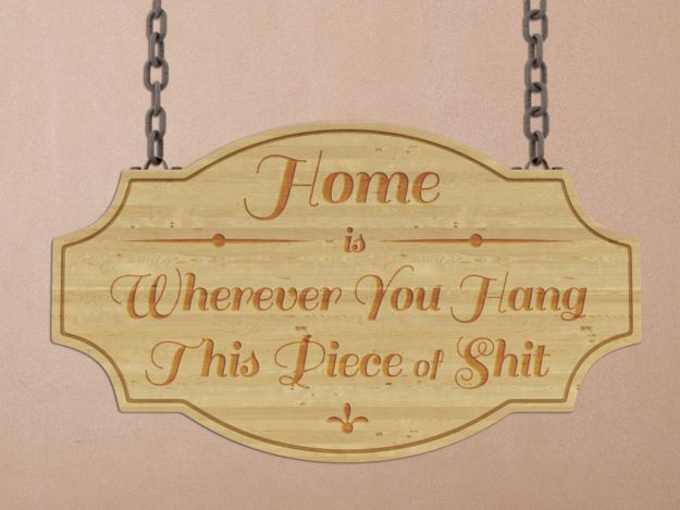 12 Home Decor Items For Desperate People. This particular item rings true in my current whirlwind journey of transition.