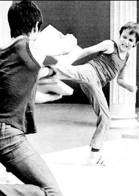 Bruce Lee & Brandon training