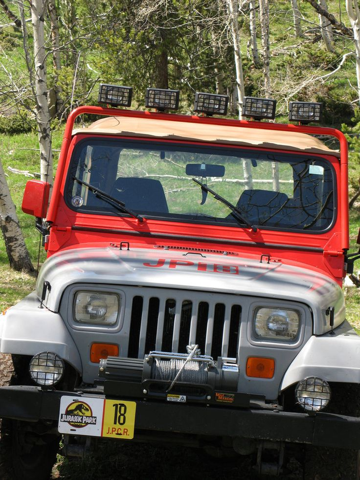 Between 2007 and 2009 I restored a Jeep Wranger YJ and converted it to be a replica of the jeeps used in Jurassic Park. Here is the finished jeep, completed April, 2009!