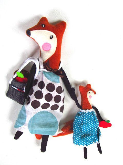 #agatownik  #handmade #polandhandmade #toys #fox www.polandhandmade.pl