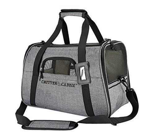 Critter-Cabbie-Soft-Sided-Pet-Carrier-Travel-Tote-AIRLINE-APPROVED-PET-CARRIER-with-Fleece-Bedding