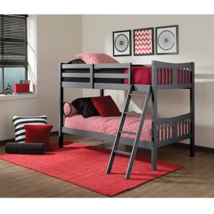 Storkcraft Caribou Twin over Twin Bunk Bed, Gray $199 Walmart