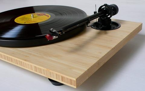 Audiowood Chirp Bamboo Turntable