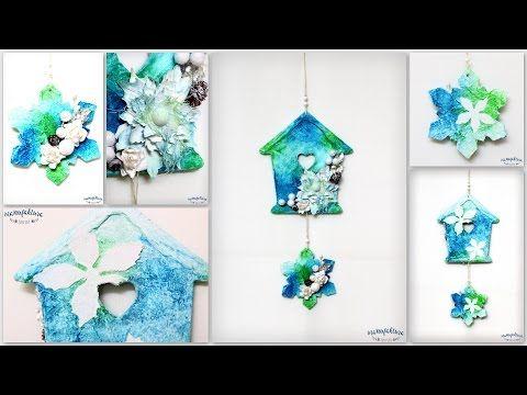 Zimowy domek – mix media – Manufaktura Justyny – artykuły do rękodzieła i ozdoby hand made