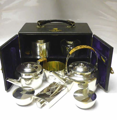 Victorian Silver Plated Travelling Picnic Set 1890 Stock ID 7125 | eBay $3226