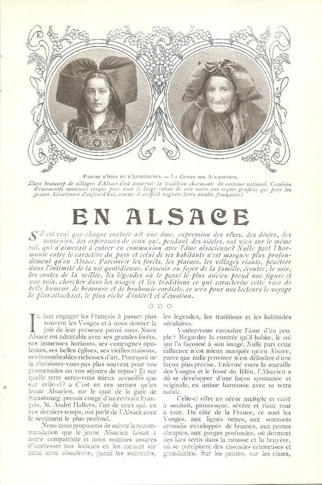 En Alsace - - Région France Costume  -  Coupure de Presse (1904)