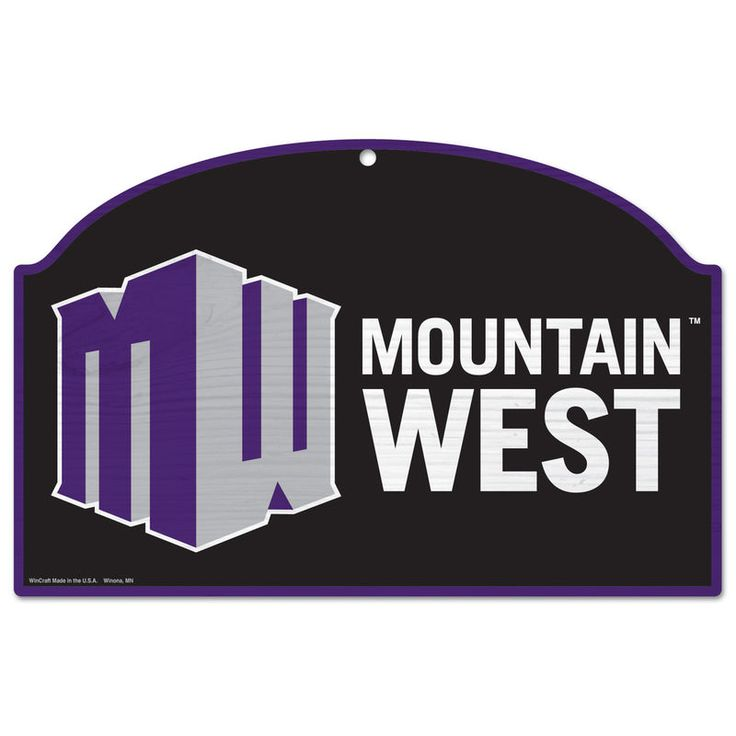 Mountain West Conference 17'' x 11'' Tier Wood Sign