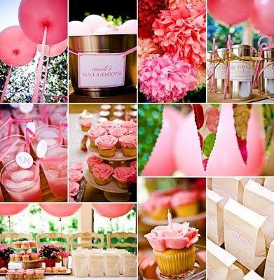 Abby of Style Me Pretty pink party Via tomkatstudio.blogspot.com