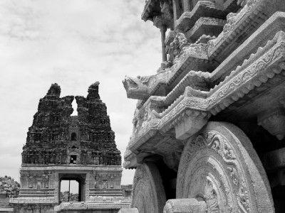 Kallu Ratha or Stone Chariot, Hampi, Karnataka, India #India #Kamalan #travel #culture #photo