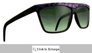 Paisley Straight Bridge Sunglasses - 193 Black/Purple