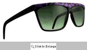 Paisley Straight Bridge Sunglasses - 193 Black/Purple