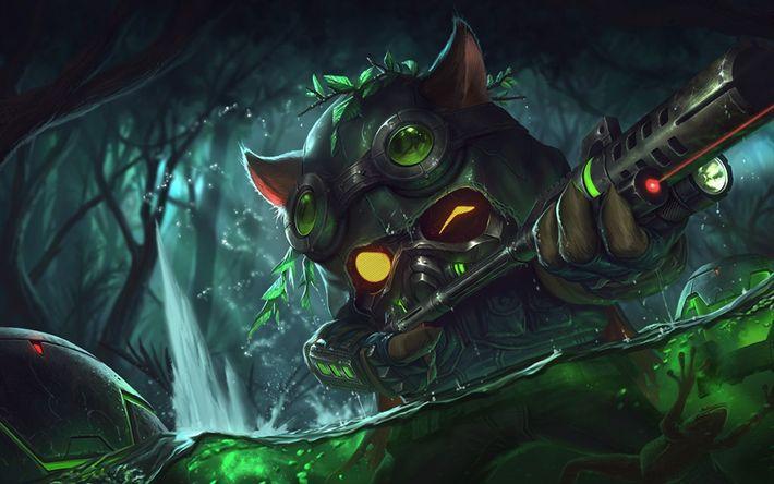 Download wallpapers Teemo, monster, art, League Of Legends
