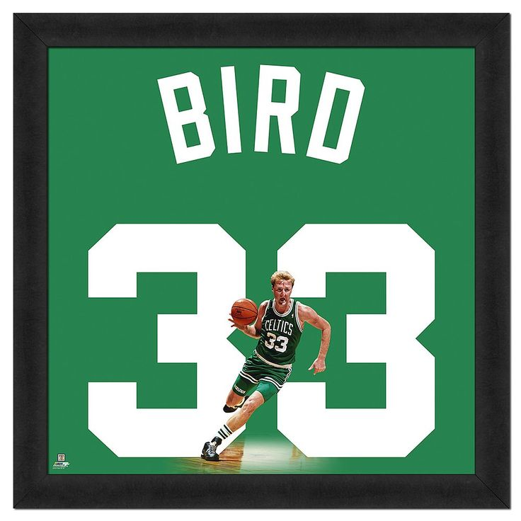 Larry Bird Framed Jersey Photo, Multicolor