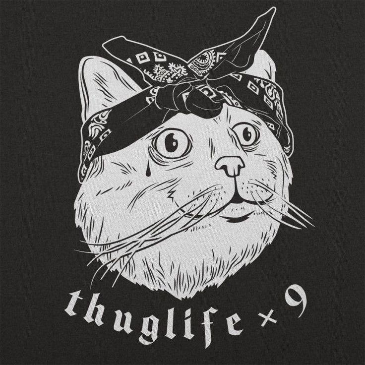 T-shirt - Thug Life Cat