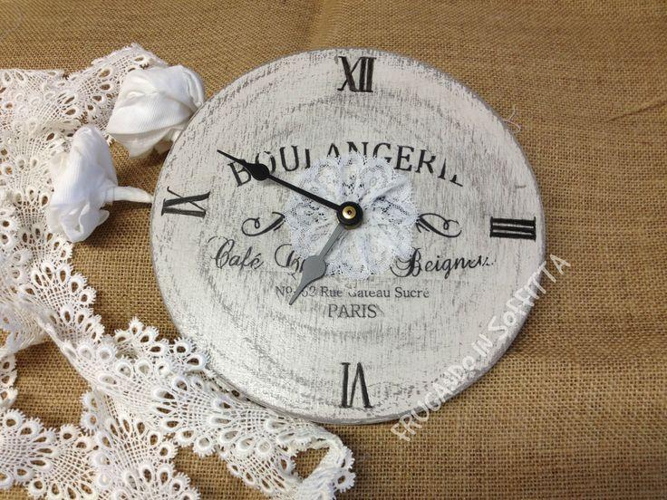 orologio da parete decorato stile shabby