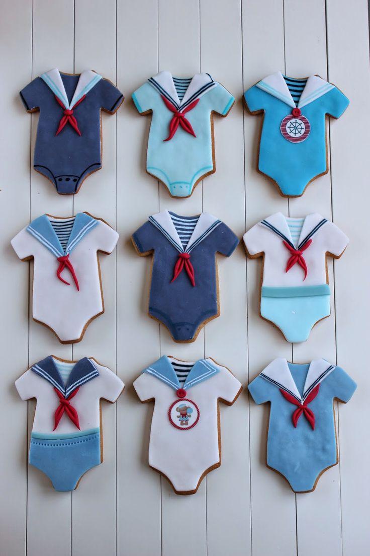 Sailor Onsies Cookies~ By Bubolinkata, blue, red