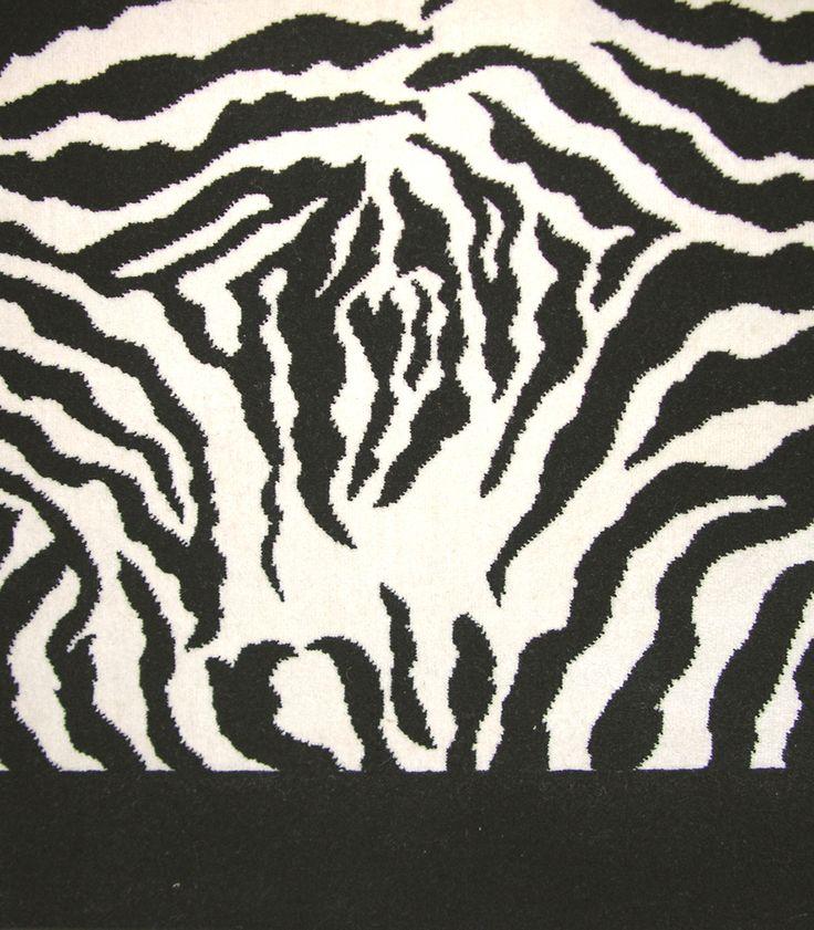 Stark Leopard Print Rug: Stark Zebra Cut Pile Black