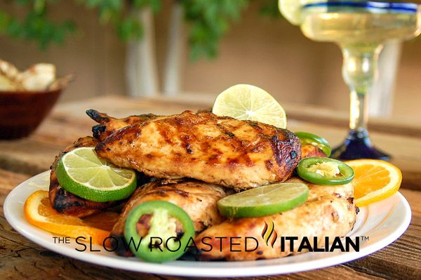 The Best Ever Grilled Margarita Chicken with Marinade Recipe