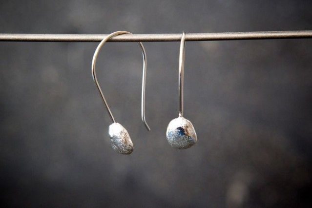 Recycled silver earrings, by Jenny Kåberg Metalldesign #silver #earrings #gifts #graduation #student #nordicdesigncollective