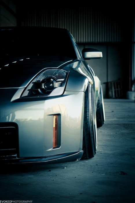 Nissan 350Z. Once was my dream just to fly behind the wheel of this car.