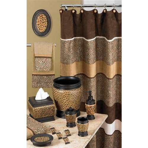 Cheetah Bathroom Set Basically Animal Print Can Give Wild Impression If Lied To Home Decoration Bath Accessories Are The Perfect Choice For