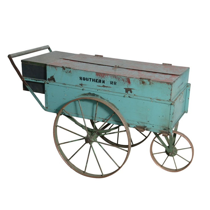 Southern Railroad Company Trolley Cart  USA  Early 1900s  Trolley cart with copper wheels