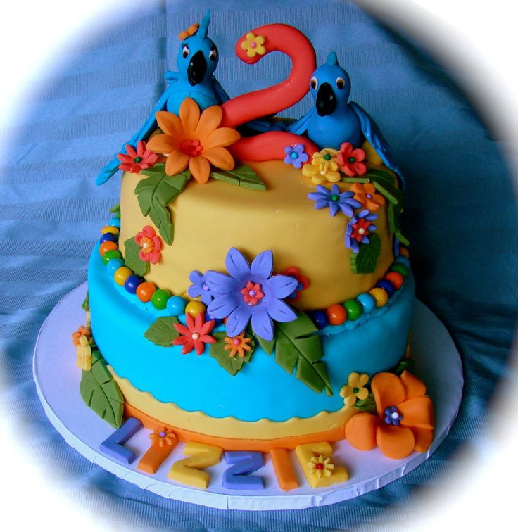 "Rio"" themed birthday cake for a child — Children's Birthday Cakes"