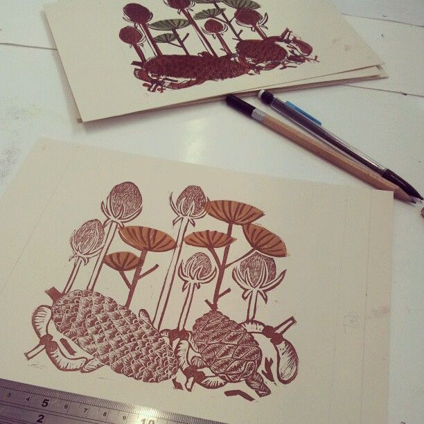 Creating a book out of my lino cuts :)