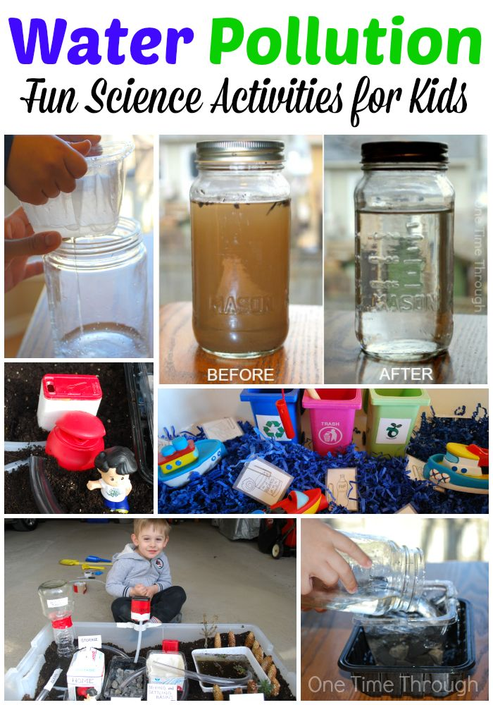 Find hands-on science activities to help young children understand where clean water comes from, and how it is cleaned at water treatment plants. Post includes instructions to make a homemade water filter and a model water treatment plant! Perfect for #EarthDay {One Time Through} #STEM