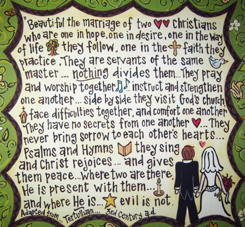 Christian Marriage Quotes With Pictures: Christian Quotes About Marriage. QuotesGram