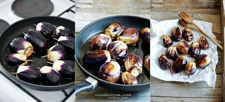 Friggere le melanzanine - Ricetta Melanzanine ripiene alla messinese di @vicaincucina